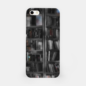 Thumbnail image of Black and White Bookshelves iPhone Case, Live Heroes