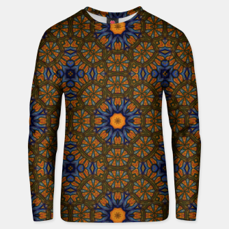 Thumbnail image of Blue and Yellow Sketch Kaleidoscope Unisex sweater, Live Heroes