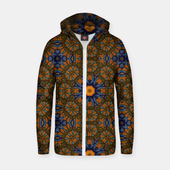 Thumbnail image of Blue and Yellow Sketch Kaleidoscope Zip up hoodie, Live Heroes