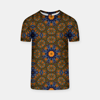Thumbnail image of Blue and Yellow Sketch Kaleidoscope T-shirt, Live Heroes