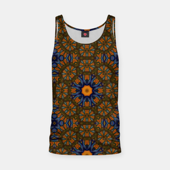Thumbnail image of Blue and Yellow Sketch Kaleidoscope Tank Top, Live Heroes