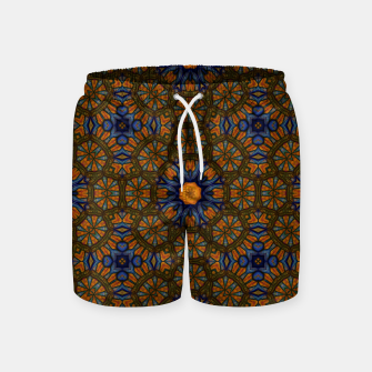 Thumbnail image of Blue and Yellow Sketch Kaleidoscope Swim Shorts, Live Heroes