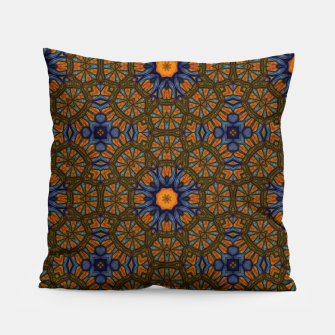 Thumbnail image of Blue and Yellow Sketch Kaleidoscope Pillow, Live Heroes