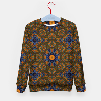 Thumbnail image of Blue and Yellow Sketch Kaleidoscope Kid's sweater, Live Heroes