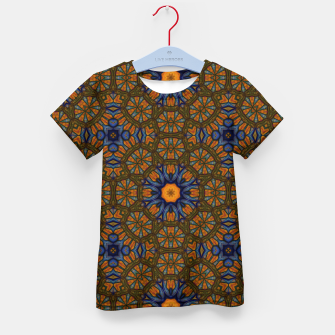 Thumbnail image of Blue and Yellow Sketch Kaleidoscope Kid's t-shirt, Live Heroes