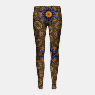 Thumbnail image of Blue and Yellow Sketch Kaleidoscope Girl's leggings, Live Heroes