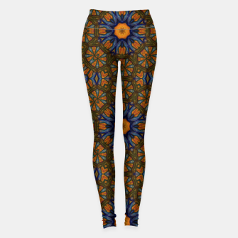 Thumbnail image of Blue and Yellow Sketch Kaleidoscope Leggings, Live Heroes