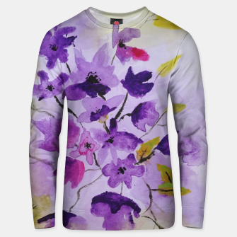 purple flowers Bluza unisex thumbnail image