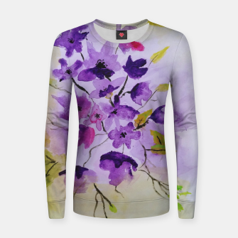 purple flowers Bluza damska thumbnail image