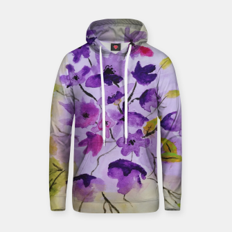 purple flowers Bluza z kapturem thumbnail image