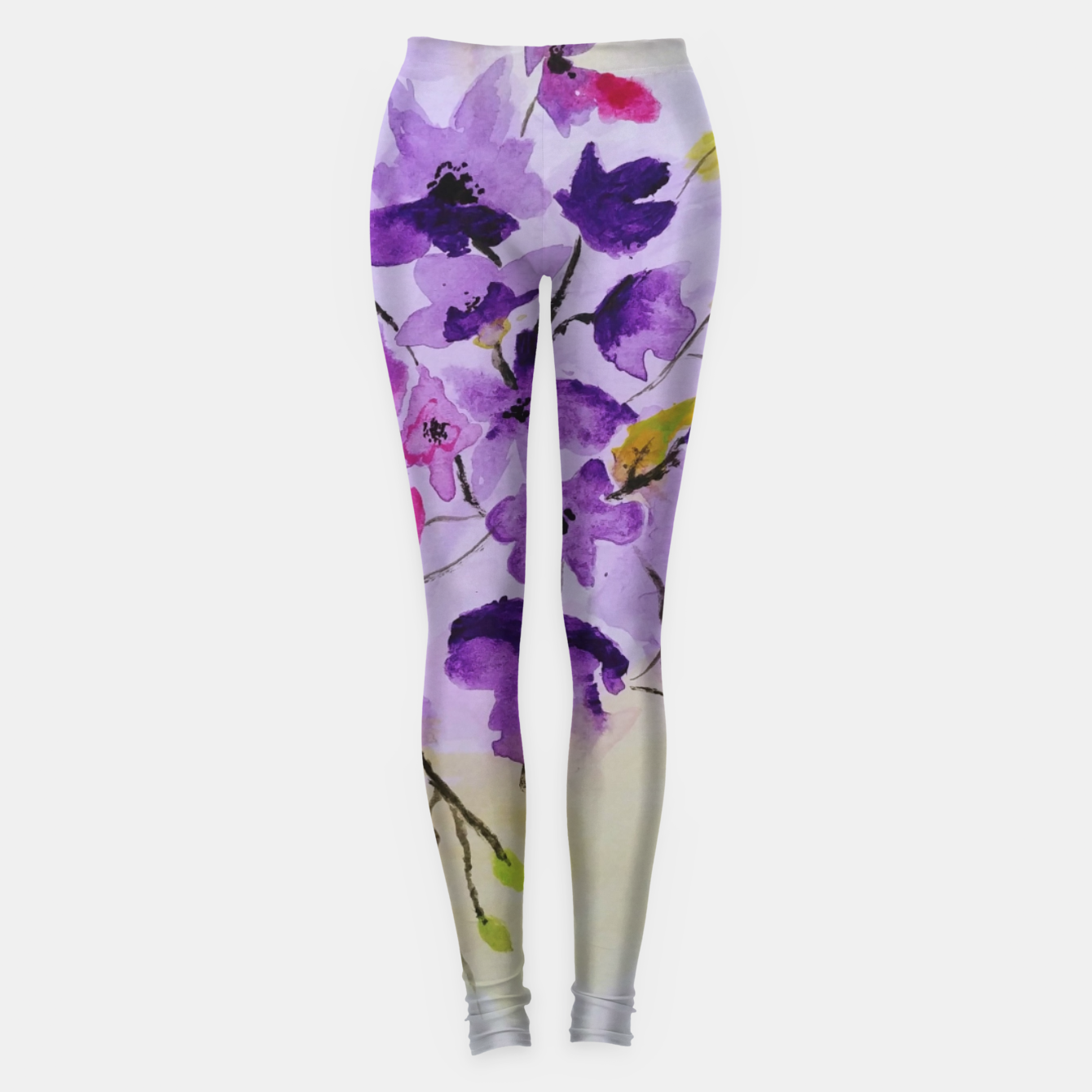 Image of purple flowers Legginsy - Live Heroes