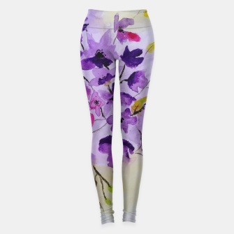 purple flowers Legginsy thumbnail image
