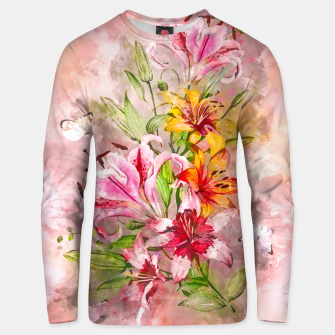 Lilies Bunch Unisex sweater obraz miniatury
