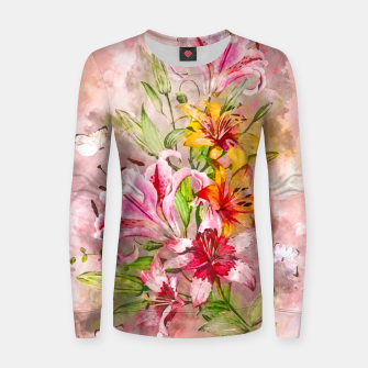 Thumbnail image of Lilies Bunch Women sweater, Live Heroes