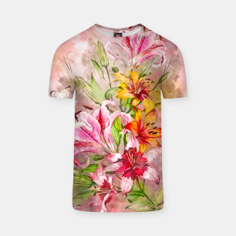 Thumbnail image of Lilies Bunch T-shirt, Live Heroes