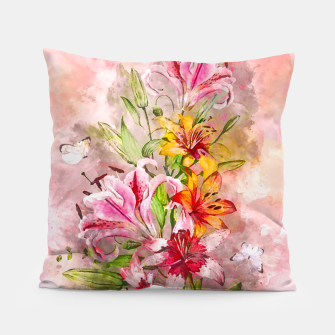 Thumbnail image of Lilies Bunch Pillow, Live Heroes