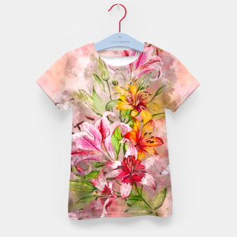 Thumbnail image of Lilies Bunch Kid's t-shirt, Live Heroes