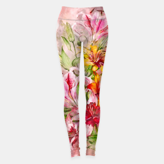 Lilies Bunch Leggings Bild der Miniatur