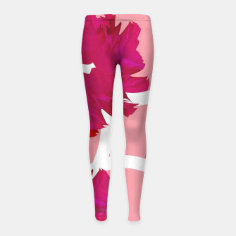 Thumbnail image of Rose flowers  Girl's leggings, Live Heroes