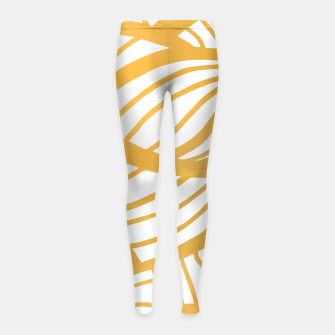Thumbnail image of Golden Summer Girl's leggings, Live Heroes