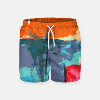 Miniatur Shredder Patches Swim Shorts, Live Heroes