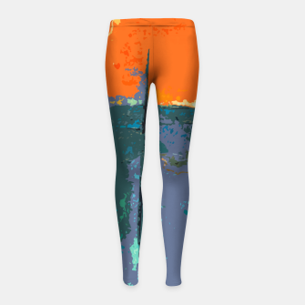 Thumbnail image of Shredder Patches Girl's leggings, Live Heroes