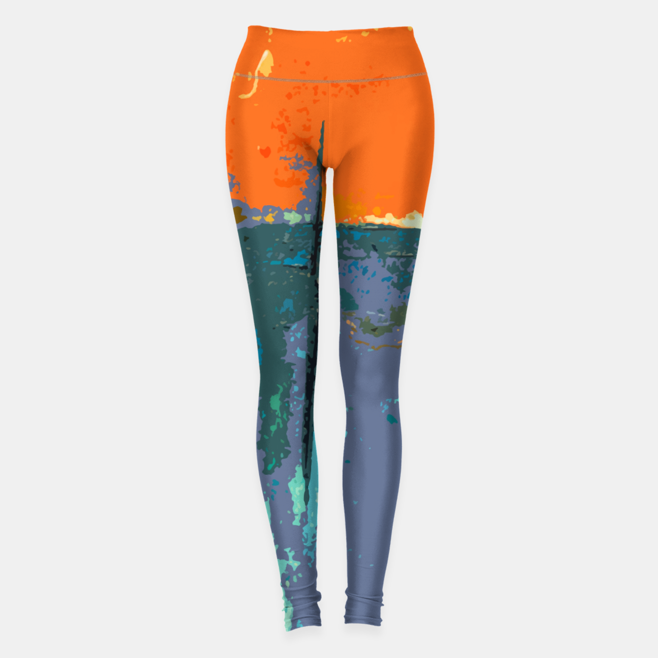 Foto Shredder Patches Leggings - Live Heroes
