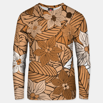 Miniatur Autumn mood with flowers and leaves in brown and beige romantic illustration and a little bit nostalgia Unisex sweater, Live Heroes