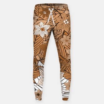 Miniature de image de Autumn mood with flowers and leaves in brown and beige romantic illustration and a little bit nostalgia Sweatpants, Live Heroes