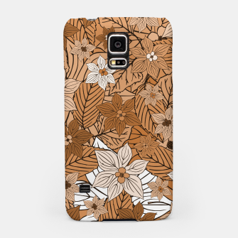 Miniature de image de Autumn mood with flowers and leaves in brown and beige romantic illustration and a little bit nostalgia Samsung Case, Live Heroes