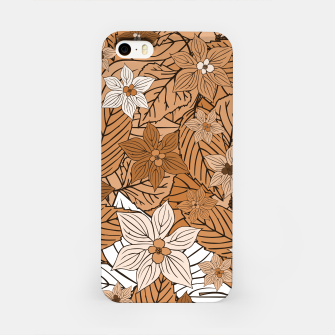 Miniature de image de Autumn mood with flowers and leaves in brown and beige romantic illustration and a little bit nostalgia iPhone Case, Live Heroes