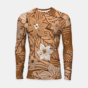 Miniature de image de Autumn mood with flowers and leaves in brown and beige romantic illustration and a little bit nostalgia Longsleeve rashguard , Live Heroes