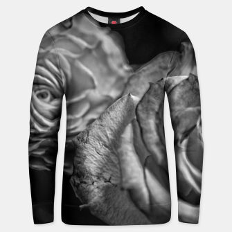 Thumbnail image of Black and White Roses Unisex sweater, Live Heroes