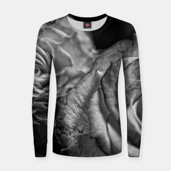 Thumbnail image of Black and White Roses Women sweater, Live Heroes