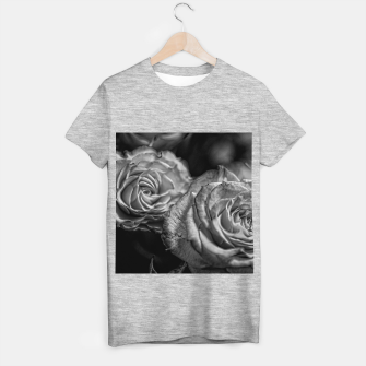 Thumbnail image of Black and White Roses T-shirt regular, Live Heroes