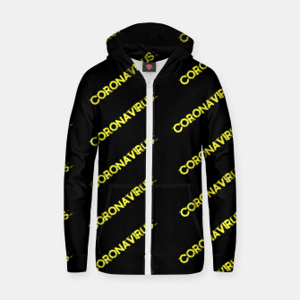 Thumbnail image of Coronavirus Zip up hoodie, Live Heroes