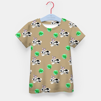 Thumbnail image of Bunnies Pattern Kid's t-shirt, Live Heroes