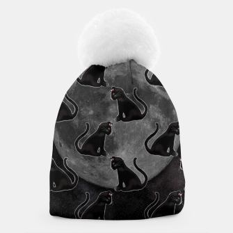 Thumbnail image of Black Cat Full Moon Beanie, Live Heroes