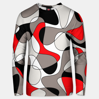 Thumbnail image of Abstract pattern - red, gray, black and white. Unisex sweater, Live Heroes