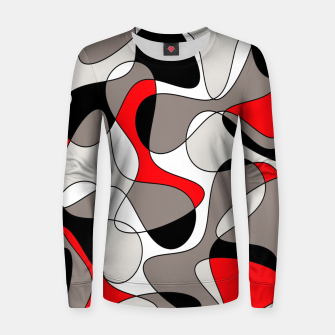 Thumbnail image of Abstract pattern - red, gray, black and white. Women sweater, Live Heroes