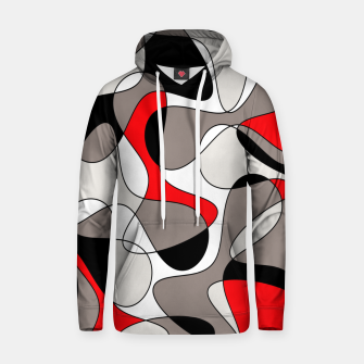 Thumbnail image of Abstract pattern - red, gray, black and white. Hoodie, Live Heroes