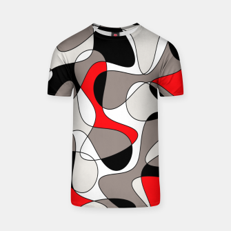 Thumbnail image of Abstract pattern - red, gray, black and white. T-shirt, Live Heroes