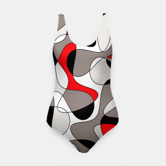 Thumbnail image of Abstract pattern - red, gray, black and white. Swimsuit, Live Heroes