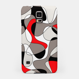 Thumbnail image of Abstract pattern - red, gray, black and white. Samsung Case, Live Heroes