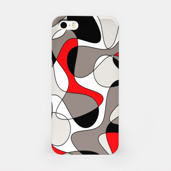 Thumbnail image of Abstract pattern - red, gray, black and white. iPhone Case, Live Heroes