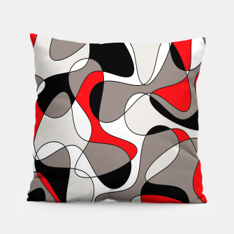 Thumbnail image of Abstract pattern - red, gray, black and white. Pillow, Live Heroes