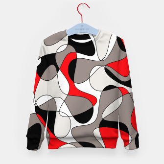 Thumbnail image of Abstract pattern - red, gray, black and white. Kid's sweater, Live Heroes