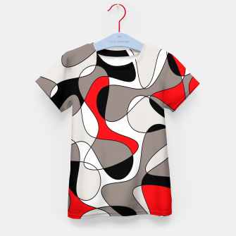 Thumbnail image of Abstract pattern - red, gray, black and white. Kid's t-shirt, Live Heroes