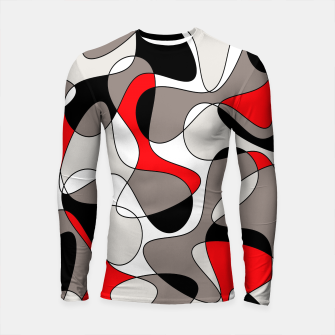 Thumbnail image of Abstract pattern - red, gray, black and white. Longsleeve rashguard , Live Heroes