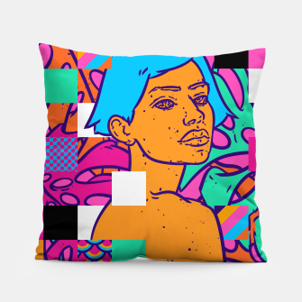 Thumbnail image of Tropical pixels Pillow, Live Heroes